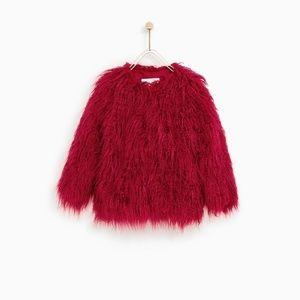 Zara Kids 3 quarter Faux fur Coat